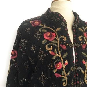 ICELANDIC Design embroidered wool jacket Sz S